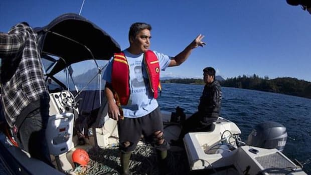 Fishing partners Clarence Smith and Ken Lucas of Ahousaht First Nation saw the sinking Leviathan II's distress flare and were first on the scene.