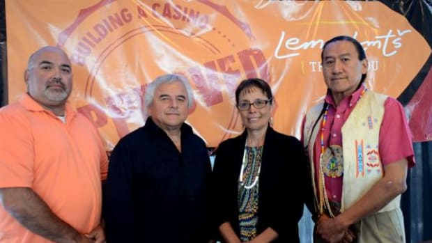 Left to right: Councilman Danny Kiefer, Councilman Glenn Ford, Chairwoman Carol Evans, and Vice Chairman David Browneagle.