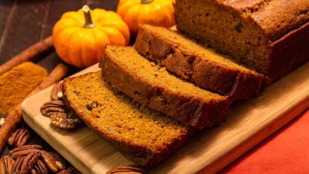 Pumpkin bread is a fall favorite.