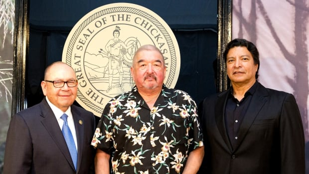 Chickasaw Nation Governor Bill Anoatubby, Graham Greene and Gil Birmingham at the premiere of Te Ata.
