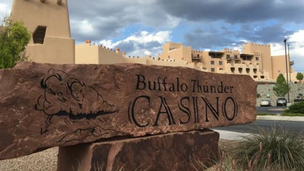When the Pueblo of Pojoaque built the 587-acre Buffalo Thunder Resort and Casino in 2008, it was the largest and most expensive in New Mexico. Now the Pueblo and the state are in heated court battles over the state's proposed compact.