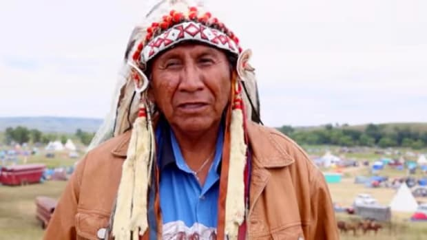 Chief Arvol Looking Horse speaks of the sacred at Standing Rock in 2016.