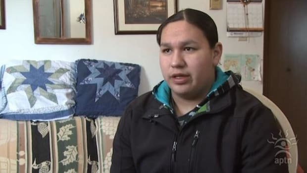 Eleventh-grade student Stephen Bunn tells the Aboriginal People's Television Network about being threatened with suspension for smelling like smudge.