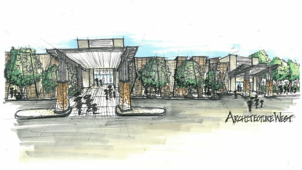 An artist rendition of the $50 million state-of-the-art research and care facility for veterans , set to open in 2018.