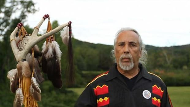 """""""I am an Indian,"""" says Chief Dwain Perry of Ramapough Lenape Indian. Photo courtesy Steven Oritt"""