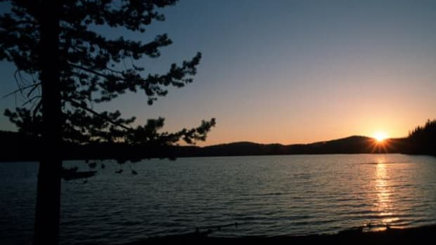 Medicine Lake in California is sacred to many tribes, the Pit River Tribe of Northern California among them.