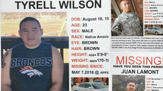 A two-week long search for three Lakota men ended Monday evening after the men were found dead in the vehicle they were last reportedly seen in.