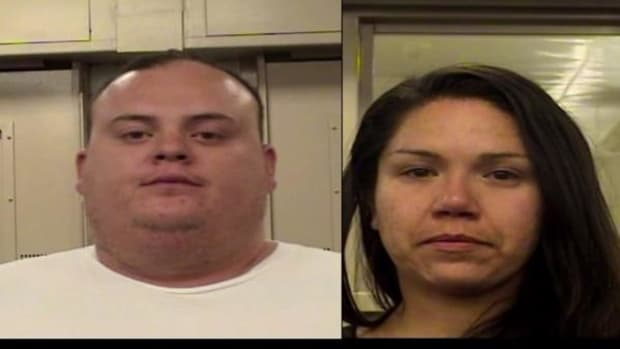 Joshua Benavidez, left, and Irene Enriquez, of Albuquerque, New Mexico, have been charged with aggravated battery with great bodily harm among other charges for allegedly setting a homeless Native American man on fire.