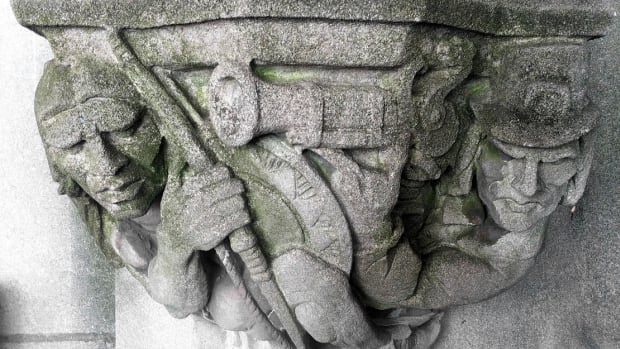 Yale is slated to remove a carving of a white man aiming a musket at a Native.