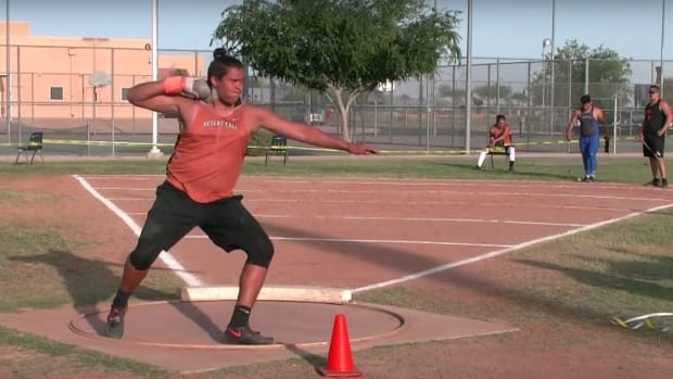 Shot Put champ Tyson Jones is ranked nationally in high school with aspirations for college and more.