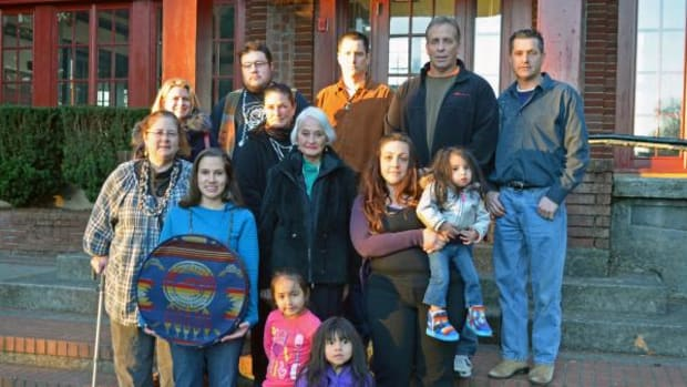 Marilyn Portwood, a family matriarch, center, and her family are among those facing disenrollment from the Confederated Tribes of the Grand Ronde.
