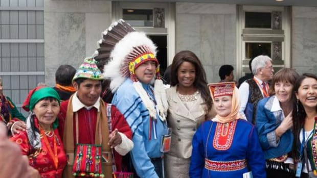 Participants at the World Conference on Indigenous Peoples, held at the UN Headquarters September 22 and 23, 2014.