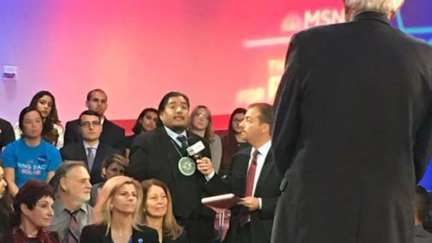 Former Moapa Paiute Tribal Chairman William Anderson asked Sen. Bernie Sanders if he would protect Native lands as President at a MSNBC Town Hall recently.