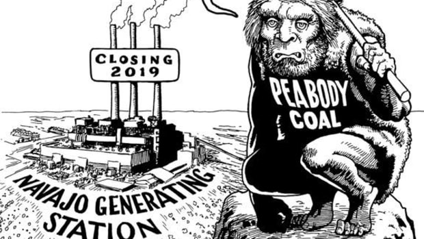 Peabody Coal? Cartoon by Marty Two Bulls