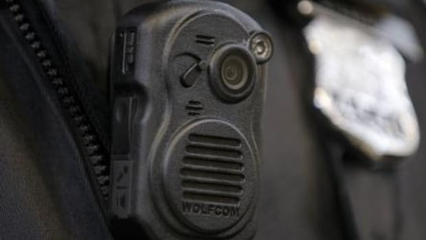 A photo of a body camera that police officers might wear while on duty.