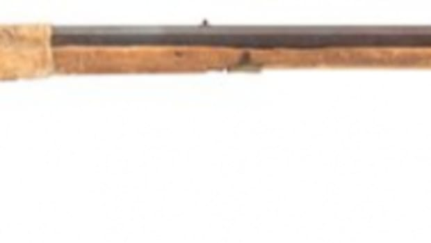 One of three guns being auctioned that were used by the 7th Cavalry during the Wounded Knee Massacre in 1890.