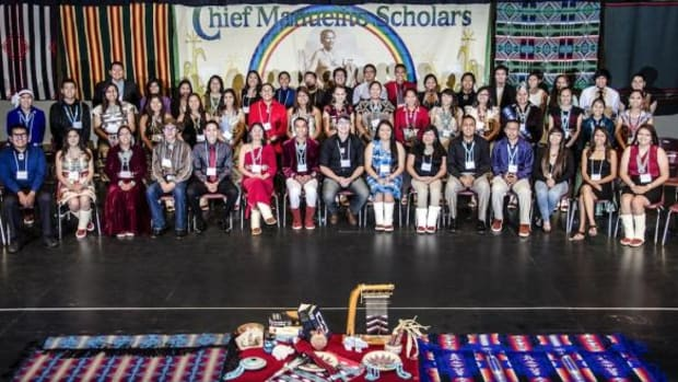 The 2014 Navajo Nation Chief Manuelito Scholars were honored at Pinon High School on July 18.