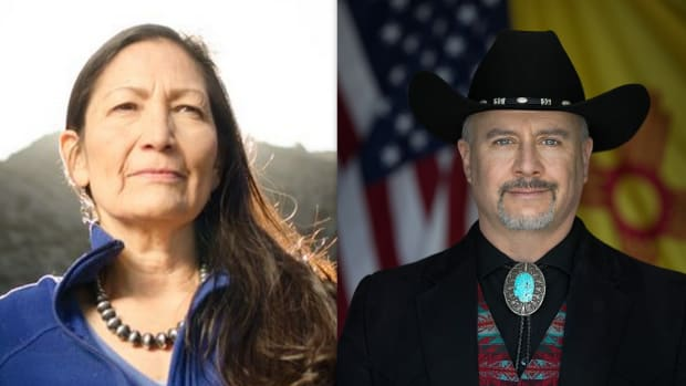 #NoteVote18: As voters head to the polls in New Mexico for Deb Haaland, who is in a tight three-way race, Gavin Clarkson is stirring up controversy running under a Team Trump flag.