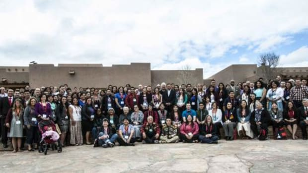 This group photo was taken during the 2015 AISES Leadership Summit. This year's will be held April 14-16 in Minnesota.