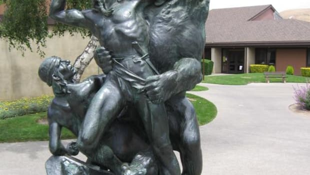 This statue by Douglas Tilden sits on the campus of the California School for the Deaf at Fremont.