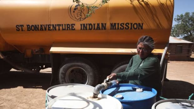 """She's affectionately known as the """"Water Lady,"""" Darlene Arviso a super-hero to Navajo Nation."""