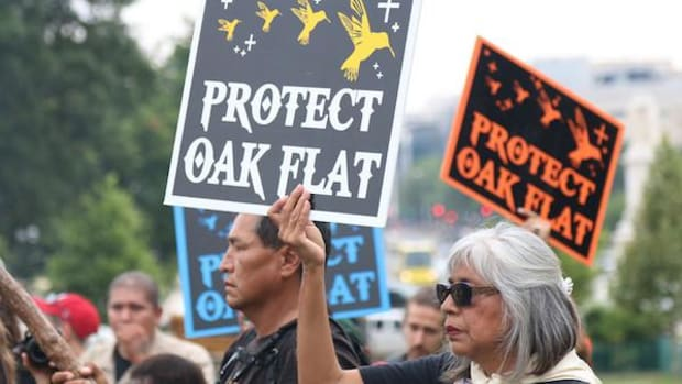 Members of the San Carlos Apache tribe came to Washington last summer to protest a copper mine proposed for Oak Flat, an area near Superior that they said is sacred to them.