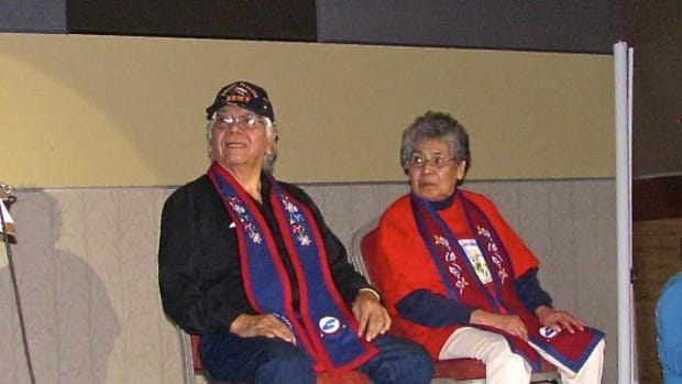 King and Queen of the Third Annual Elders Gathering, Bill Spears and Ramona Manuel.