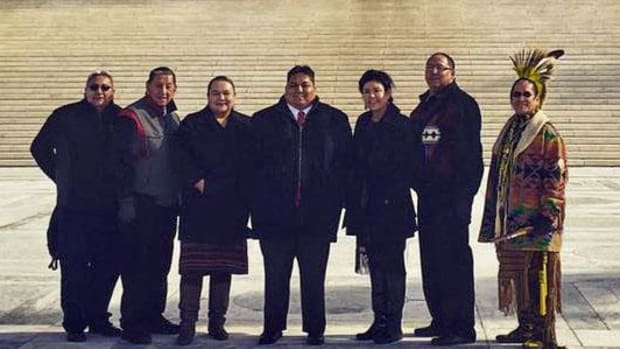 Omaha Tribal leaders at the Supreme Court on January 20, 2016.