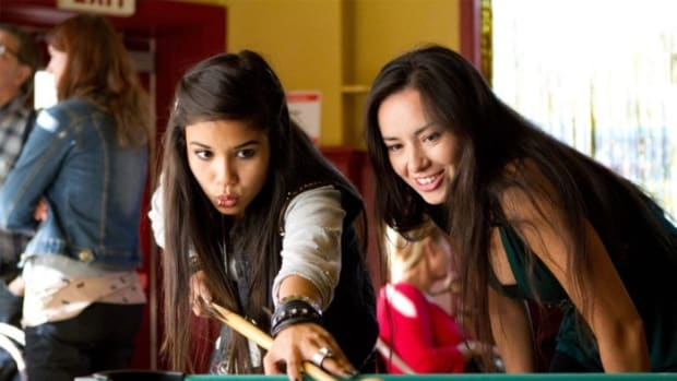Left to right, Shay Eyre as a troubled teen Peeka and Cara Gee as her mother Lena Mahikan. Photo Synergetic Distribution