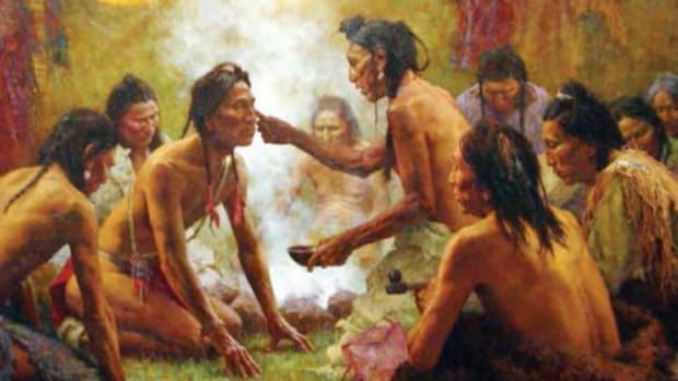 Blessing from the Medicine Man by Howard Terpning, from the traveling exhibit Native Voices: Native People's Concepts of Health.