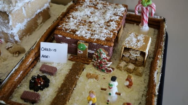 Gingerbread House contest - Children's 3rd Place - Triston Lannon Courtesy IPCC