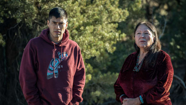 "A scene from the EPIX series 'America Divided"" episode 'Who Controls the Land' with correspondent Martin Sensmeier. The episode airs starting Friday May 11th."