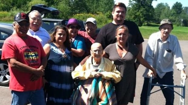 The Loonsfoot family with Patricia Giese (married name)—Hannah's grandmother—seated in the middle. Patricia was reunited with her family before she walked on.