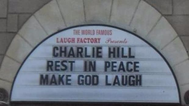 The marquee of The Laugh Factory on Sunset Boulevard in Los Angeles acknowledged the loss of one of the greats.