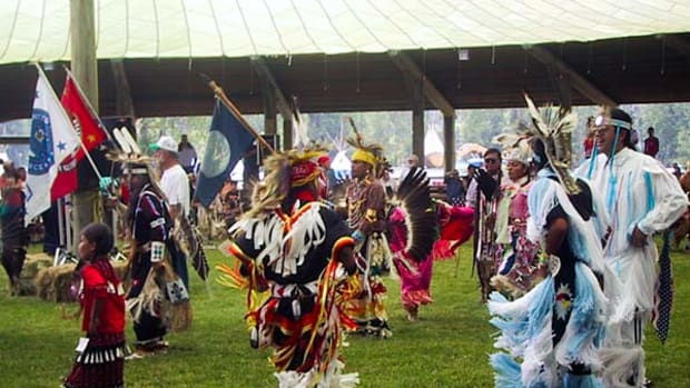 Tamlaliks dancers at a previous years' Wallowa Band Nez Perce celebration.