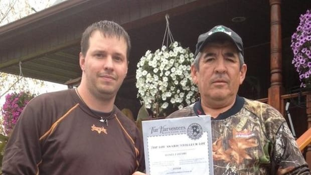 Collaboration between Saint Regis Mohawk Environment Division Wildlife Technician Jay Wilkins, left, with Akwesasne community member, trapper and sturgeon fisherman Danny Jacobs, netted the tribe an environmental stewardship award from the Fur Harvesters Auction Inc.