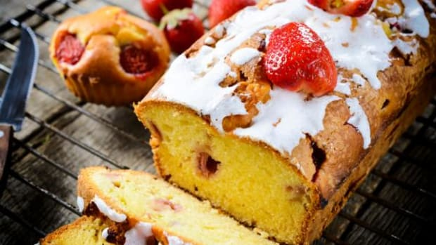 Strawberry bread is a good summer bread option. The frosting is an optional add-on.