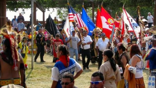 The colorful colors at the Ponemah Labor Day Powwow.