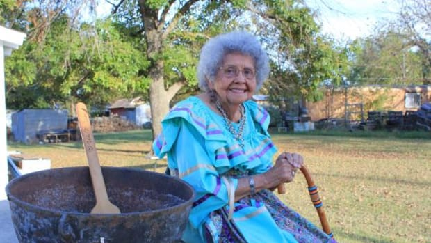Chickasaw Nation Elder Irene Pettigrew Digby, 94, finds strength in her heritage, and passing it on to younger generations.