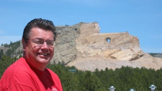 Beau visiting the Crazy Horse Memorial in the Black Hills of South Dakota (Courtesy Beau Washington)