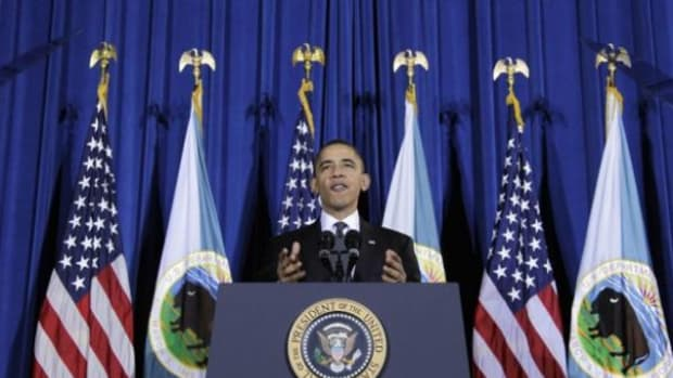 President Barack Obama speaks at one of several Tribal Nations Conferences he has scheduled since taking office.