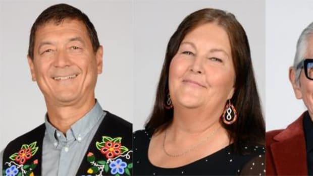 A few of this year's Indspire Winners for Indigenous Achievement in Canada (left to right):  Mark Stevenson Jo-Ann Episkenew Leonard George