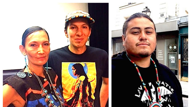 Last month, musical artists Sihasin (Jeneda and Clayson Benally, formerly of Blackfire) and 25-year-old hip-hop artist and filmmaker Nataanii Means brought awareness to the situation in Standing Rock to Paris, France