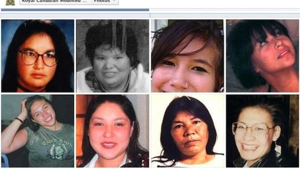 Some of the missing indigenous women highlighted on the Royal Canadian Mounted Police's Facebook page.
