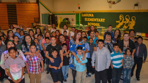 Students and Teachers at the Laguna Elementary school are excited about a new school in their future.