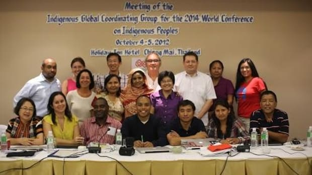 Indigenous leaders from around the world gathered in Chiang Mai, Thailand recently to beginning planning for the 2014 World Conference on Indigenous Peoples, which will be the first time the United Nation's General Assembly will devot the annual forum to discussing indigenous affairs.