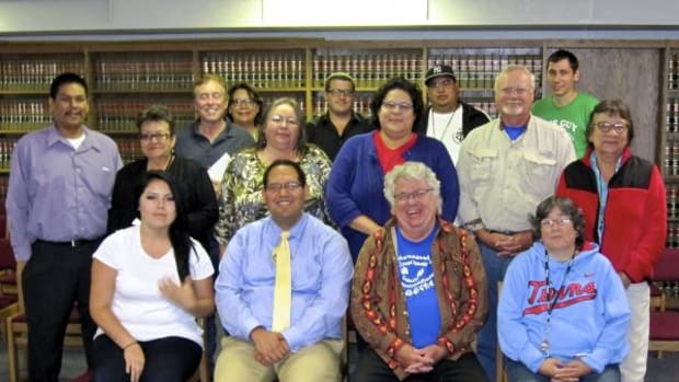 Members of the Red Lake Political Education Committee