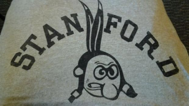 The old Stanford Indian mascot