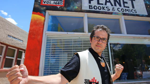 Indigenous Comic Con creator Lee Francis is the owner of the Red Planet Comics and Bookstore.