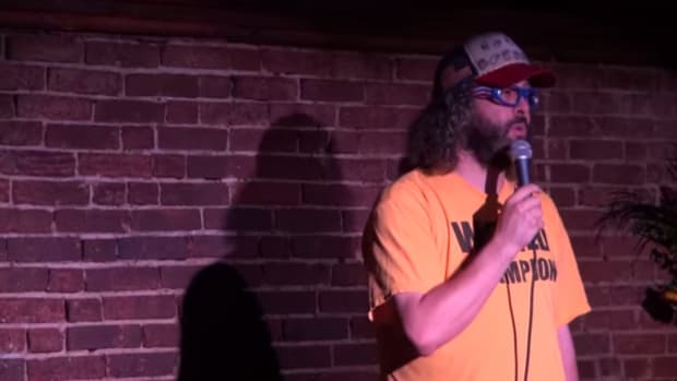 Comedian Judah Friedlander tells a crowd how they should instead celebrate Columbus Day.